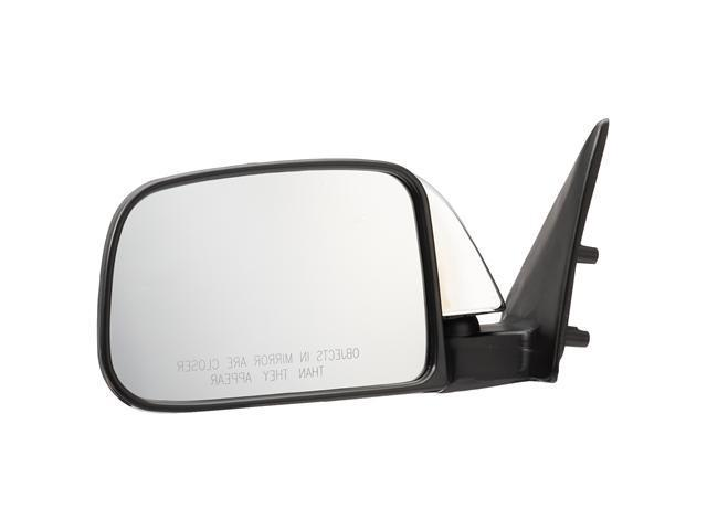 Pilot 89-95 Toyota Pickup Dual Mirror Type w/ Vent Window Door Mount Manual Mirror Left Chrome/Black Smooth TY939410AL