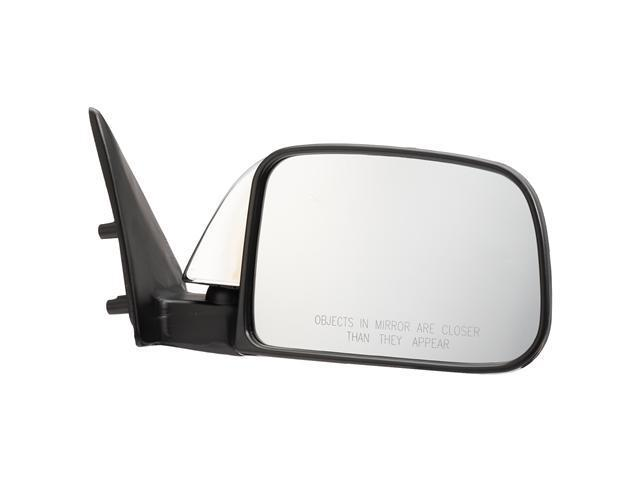 Pilot 89-95 Toyota Pickup Dual Mirror Type w/ Vent Window Door Mount Manual Mirror Right Chrome/Black Smooth TY939410AR