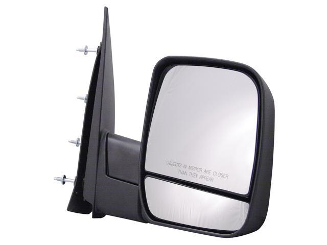 Pilot 02-06 Ford Econoline Van w/o Puddle Lamp Dual Mirror Glass Power Non Heated Mirror Right Black Textured 3210031