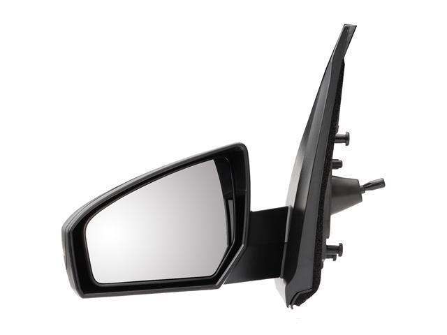 Pilot 07-10 Nissan Sentra Manual Remote Mirror Left Black Smooth NS2694100L