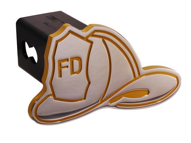 "Defenderworx Fireman's Hat - Yellow - Cutout Hat - 2"" Billet Hitch Cover 25096"
