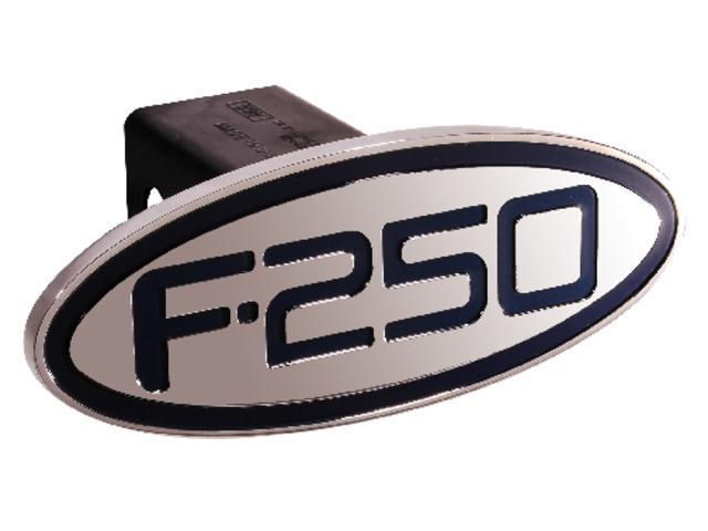 Defenderworx Ford - F250 - Blue - Oval - 2'' Billet Hitch Cover Blue Ea 60251