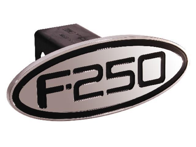 Defenderworx Ford - F-250 - Black - Oval - 2'' Billet Hitch Cover Black Ea 60253
