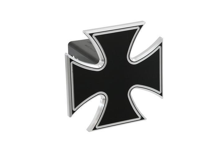 "Defenderworx Iron Cross - Black - 2"" Billet Hitch Cover Black Ea 61062"