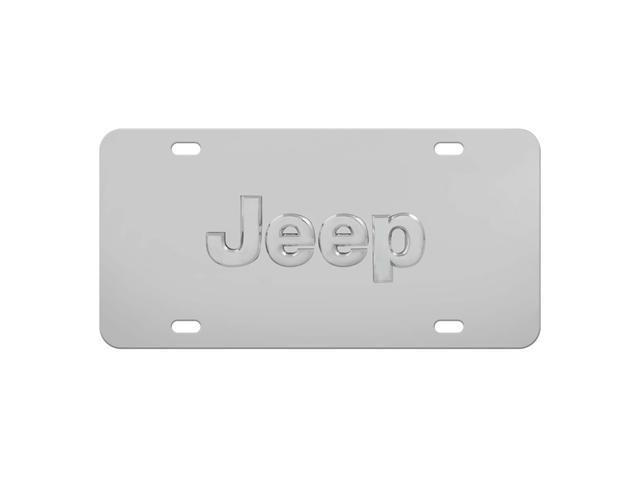 Pilot Jeep Logo License Plate Chrome LP-130
