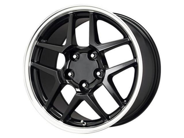 B/G Rod Works Corvette Replica Z06 Wheel 17x9.5 Gloss Black Machined Lip Z06 795-5475-54 BM