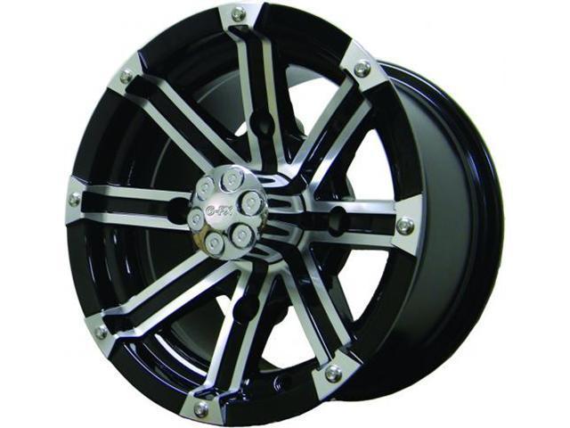 G-FX Double Barrel ATV Wheel 12x7 Gloss Black Machined DBL 270-4156-04 GBM