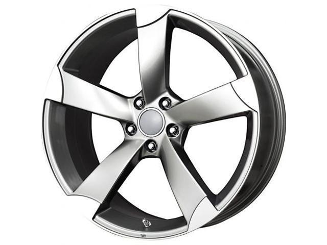 B/G Rod Works Audi Replica RS6 Wheel 18x8 Gun Metal Machined Lip AU5 880-5112-35 GMF