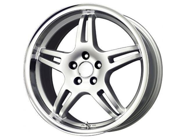 Voxx MG3 Automotive Wheel 17x8 Silver Mirror Machined Lip MG3 780-5112-20 SML