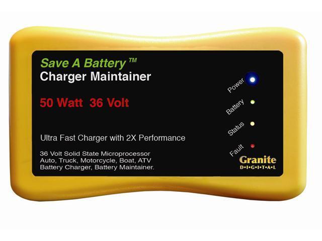 Save A Battery 36 Volt 50 Watt Battery Charger Maintainer Desulfator 2365-36