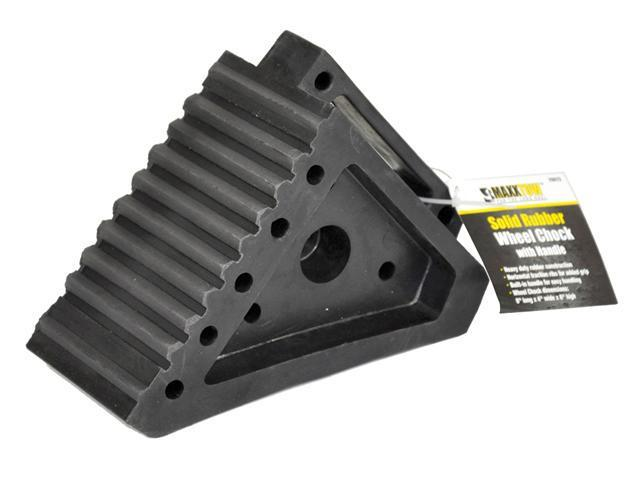 MAXXTOW Heavy Duty Solid Rubber Wheel Chock 70072-TAG