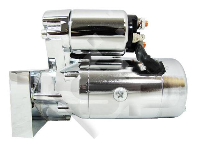 SB/ BB Chevy Mini Starter Motor, Chrome Tilton Style