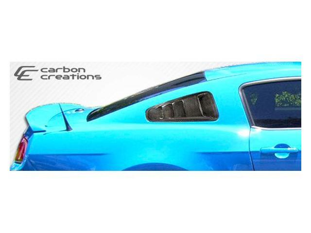 Carbon Creations 2005-2012 Ford Mustang Hot Wheels Window Scoops 105868