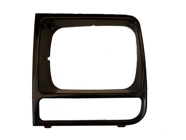 Omix-ada This black headlight bezel from Omix-ADA fits the left side on 97-01 Jeep XJ Cherokees. 12419.17