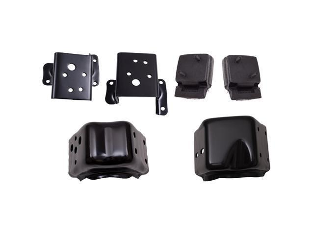 Omix-ada Engine Mounting Kit (5.0L), Includes: 2 Engine Mounts & 4 Mounting Brackets, 1972-1981 Models 17472.05