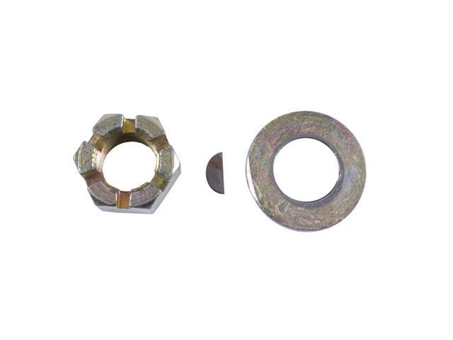 Omix-ada This axle shaft nut, washer, and key from Omix-ADA fits76-86 Jeep CJ models with an AMC 20 rear axle. Fits left or right sides. 16533.04