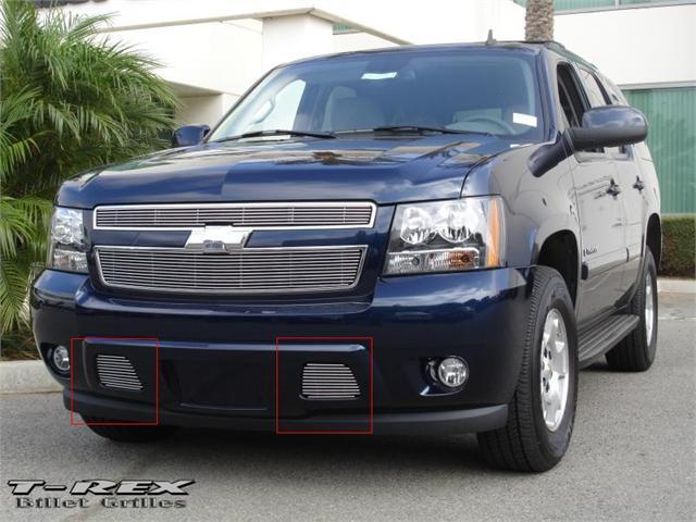 T-REX 2007-2012 Chevrolet Tahoe, Suburban, Avalanche (Except Z71) Bumper Billet Grille Insert - 2 Pc (11 Bars) POLISHED 25051
