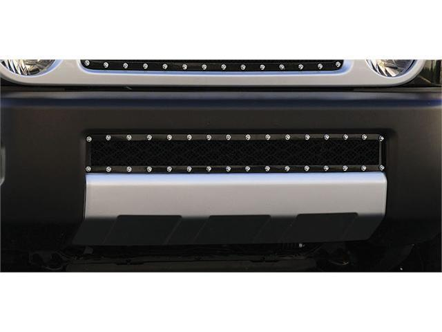 T-REX 2005-2012 Toyota FJ Cruiser X-METAL Series - Studded Bumper Grille - ALL Black BLACK 6729321