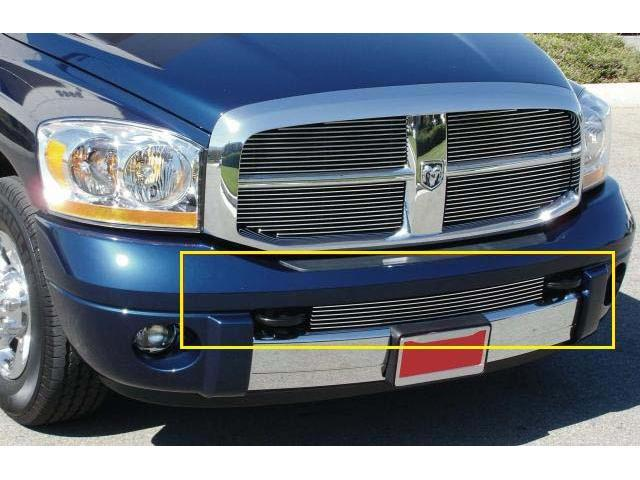 T-REX 2006-2008 Dodge Ram PU - Laramie Bumper Billet Grille Insert - Between Tow Hooks POLISHED 25468