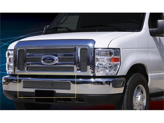T-REX 2008-2011 Ford Econoline XLT Bumper Billet Grille Insert POLISHED 25501