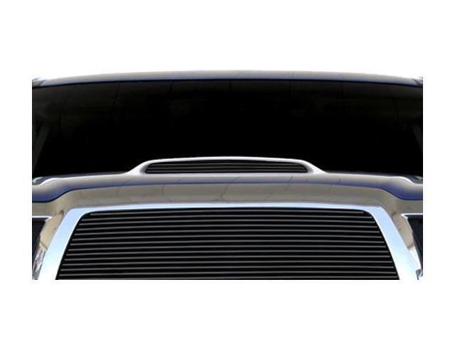 T-REX 2005-2010 Toyota Tacoma, 06 4Runner Billet Hood Scoop Insert - 1 Pc (4 Bars) - All Black BLACK 20897B
