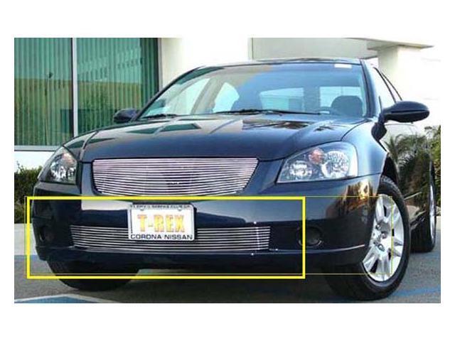 T-REX 2005-2006 Nissan Altima Bumper Billet Grille Insert (9 Bars) POLISHED 25741