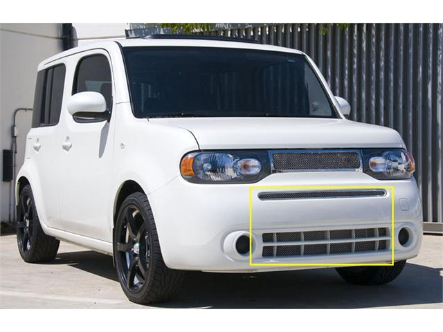 T-REX 2009-2012 Nissan Cube Upper Class Polished Stainless Bumper Mesh Grille - Includes top bumper grille w/frame and lower airt dam mesh (Mesh only / No frame) POLISHED 55772