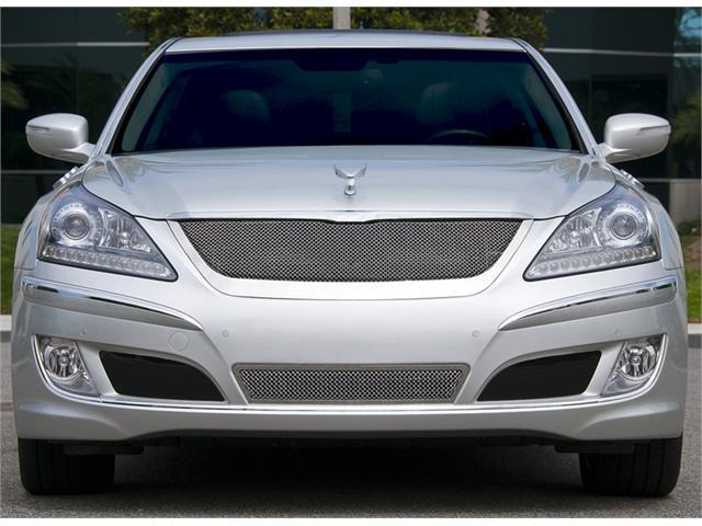 T-REX 2010-2012 Hyundai Equus Signature Upper Class Polished Stainless Mesh Grille - With Formed Mesh Center POLISHED 54496