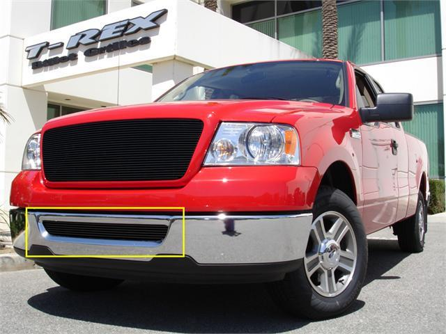 T-REX 2004-2005 Ford F150 (All Models) Bumper Billet Grille Insert - All Black BLACK 25552B