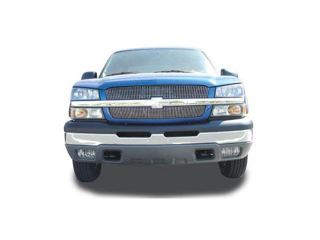 T-REX 2003-2005 Chevrolet Silverado (All Except 05 HD) VERTICAL Billet Grille Overlay/Bolt - 2 Pc (65 & 63 Bars) POLISHED 31100