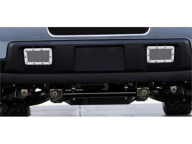 T-REX 2011-2012 Chevrolet Silverado HD X-METAL Series - Studded Tow Hook Bumper Grille - 2 Pc Polished SS - 2 PC (Includes Top bumper mesh and air dam grille) POLISHED 6721150