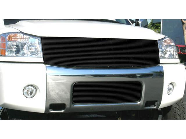 T-REX 2004-2012 Nissan Titan (04-07 Armada) Billet Grille Insert - 1 Pc (Replaces Grille Shell) (22 Bars) - All Black BLACK 20780B
