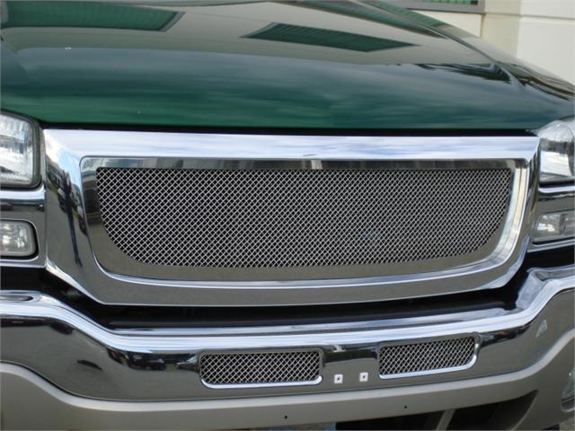 T-REX 2003-2006 GMC Sierra (All Models except C3) Upper Class Polished Stainless Mesh Grille POLISHED 54200