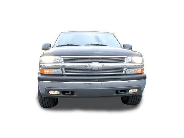 T-REX 1999-2006 Chevrolet Suburban/Tahoe, 99-02 Silverado Grille Assembly - All Chrome - w/Billet & Bowtie Installed POLISHED 50075
