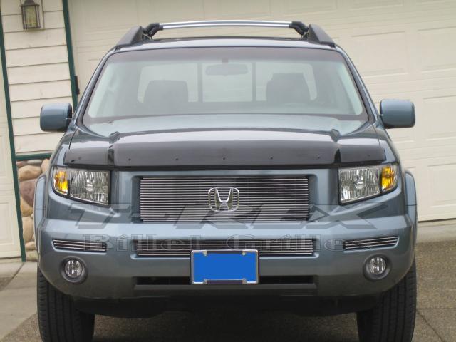 T-REX 2006-2008 Honda Ridgeline Billet Grille - Bolt On Easy Install (18 Bars Each) POLISHED 21733
