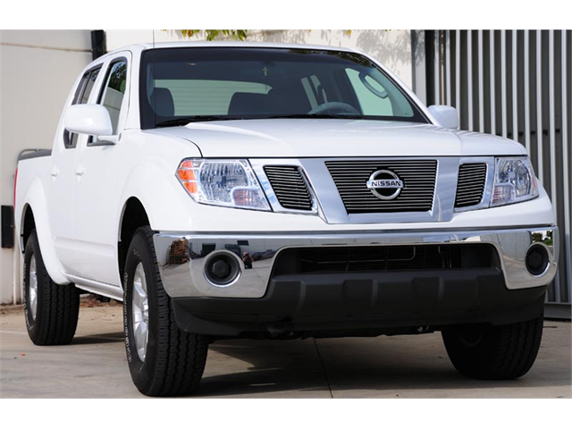 T-REX 2009-2010 Nissan Frontier Billet Grille Overlay/Bolt On - 3 Pc w/ Logo Opening POLISHED 21774