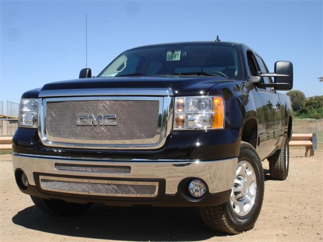 T-REX 2007-2010 GMC Sierra 2500HD, 3500 Upper Class Polished Stainless Mesh Grille POLISHED 54206