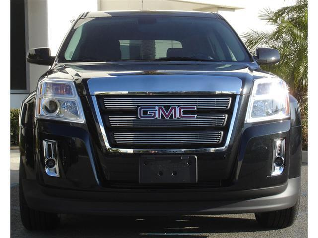 T-REX 2010-2012 GMC Terrain Billet Grille Overlay/Bolt On - 3 Pc - W/ Logo Opening POLISHED 21154