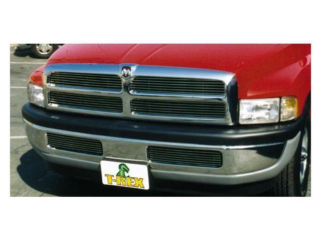 T-REX 1994-2001 Dodge Ram PU, except 99+ Sport Billet Grille Insert - 4 Pc Style (12 Bars Each) POLISHED 20450