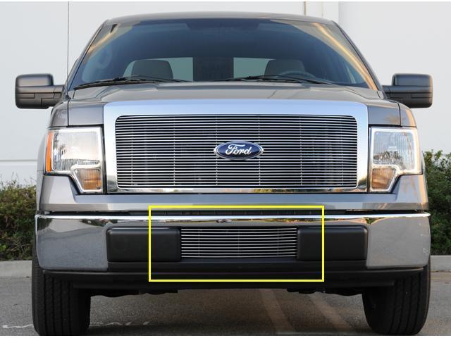 T-REX 2009-2012 Ford F-150 Bumper Billet Grille Insert POLISHED 25569