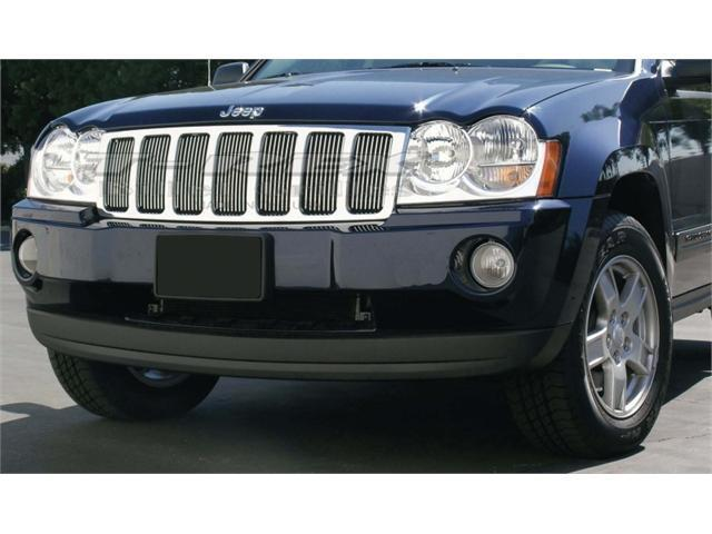 T-REX 2005-2008 Jeep Grand Cherokee VERTICAL Billet Grille Insert POLISHED 30480
