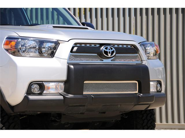 T-REX 2010-2012 Toyota 4RUNNER Upper Class Polished Stainless Mesh Grille - 3 Pc - Overlay (Top Sections with Oval Holes) POLISHED 54947