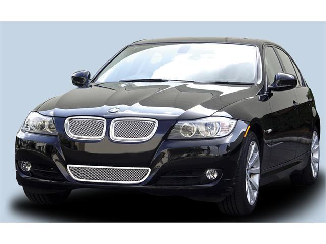 T-REX 2009-2011 BMW 3 Series Upper Class Polished Stainless Mesh Grille - With Formed Mesh Center - 2 Pc POLISHED 54992