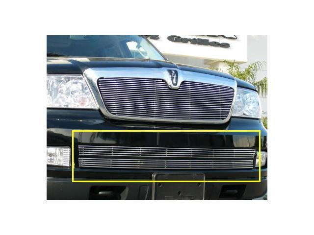 T-REX 2005-2006 Lincoln Navigator Bumper Billet Grille Insert - 2 Pc (4 Bars Each) POLISHED 25699