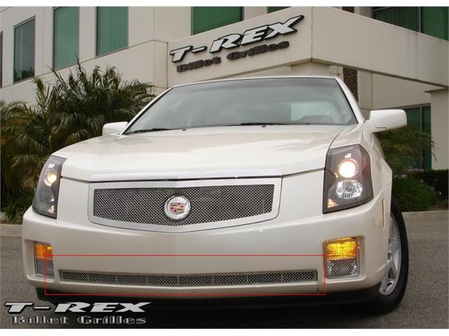 T-REX 2003-2007 Cadillac CTS Upper Class Polished Stainless Bumper Mesh Grille POLISHED 55192