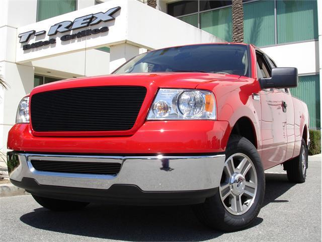 T-REX 2004-2008 Ford F150 (All Models) Billet Grille Bolt On (Replaces Factory Center Grille) - Full Opening - Fits All Models - All Black BLACK 21556B