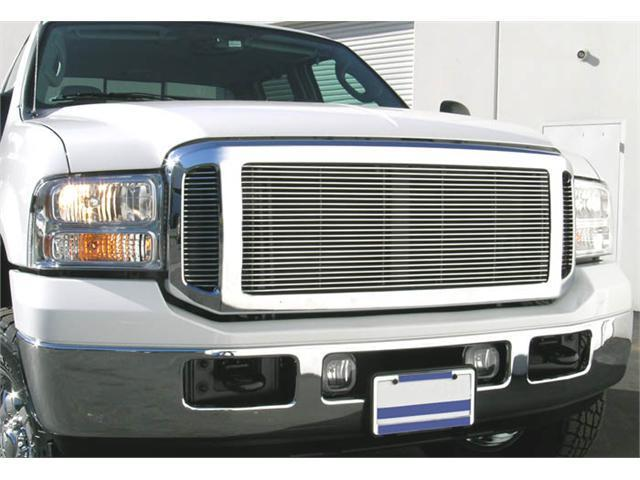 T-REX 2005-2007 Ford Super Duty, Excursion (Except Harley Trucks) Billet Grille Insert (Requires Cutting center and side sections - 3 PC Look ) POLISHED 20561