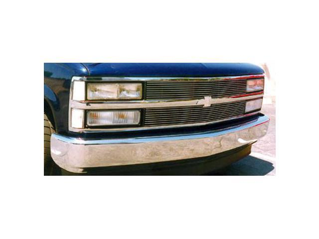T-REX 1988-1993 Chevrolet PU, 92-93 Suburban/Tahoe Billet Grille Insert (9, 9 Bars) POLISHED 20030