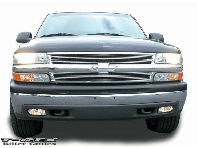 T-REX 1999-2006 Chevrolet Suburban/Tahoe, 99-02 Silverado Billet Grille Insert (7 Bars) POLISHED 20075