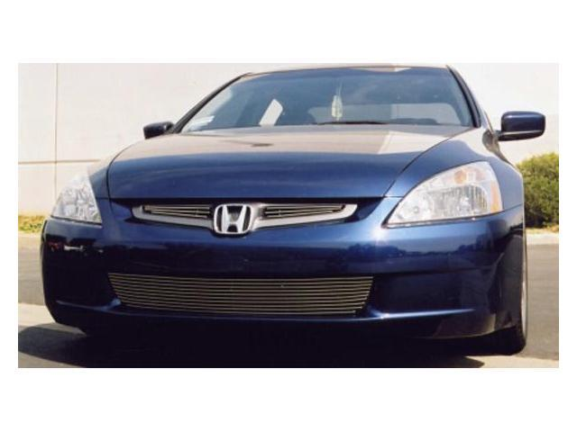 T-REX 2003-2005 Honda Accord (4 Door Sedan Only) Billet Grille Overlay - 2 Pc (3 Bars Each) POLISHED 21730